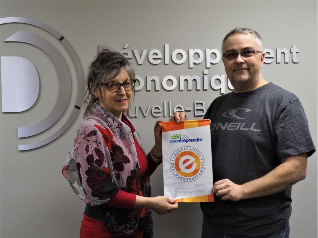 Estelle Nadeau, DENB et Christophe Busson, de l'entreprise Les Services R.P.C.